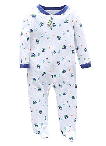 Marquebaby Baby Boys Footed Pajama - 100% Cotton