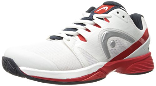 HEAD Nitro Pro Men's Tennis Shoes, White/Red, 11.5 (Shoes Pro Tennis Mens)