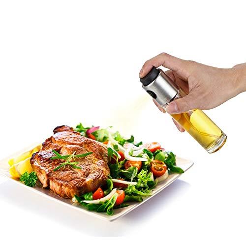 Oil Sprayers, Flight Olive Oil Sprayer Mister Oil Spray Bottle Portable Transparent Glass Spray Bottle Vinegar Bottle Oil Dispenser Seasoning Kitchenware Tools (transparent)