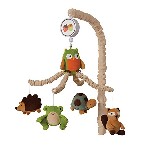 Lambs Ivy Woodland/Forest Crib Musical Mobile - Echo - Owl and - Mobile Baby Brown Crib Musical