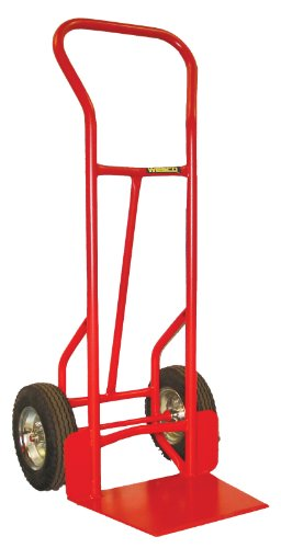 Nose Wheel - Wesco 210066 Heavy Duty Steel Shovel Nose Hand Truck, Pneumatic Wheels, 800-lb. Load Capacity, 20-1/2