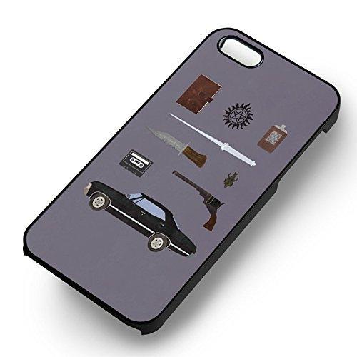 Supernatural Items pour Coque Iphone 6 et Coque Iphone 6s Case (Noir Boîtier en plastique dur) M3I5ZC