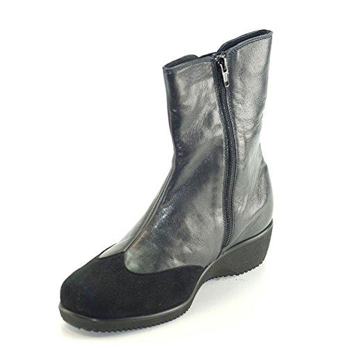 Hergos Cuir Derniers Confortable Noir H Chaussure Noir Chiffres actualisation Et 8035 Élégant Daim RUqHxUrw8C