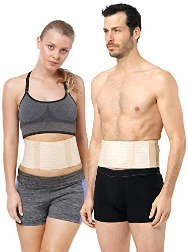 Umbilical Hernia Belt for Men and Women Abdominal Support Binder with Compression Pad for Incisional, Epigastric, Ventral, Inguinal Hernia Belly