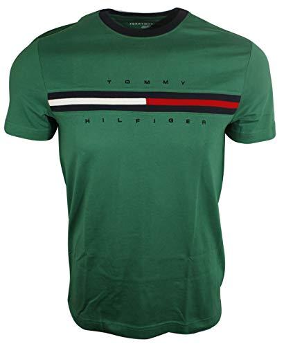 Tommy Hilfiger Mens Classic Fit Big Logo T-Shirt (XX-Large, Green)