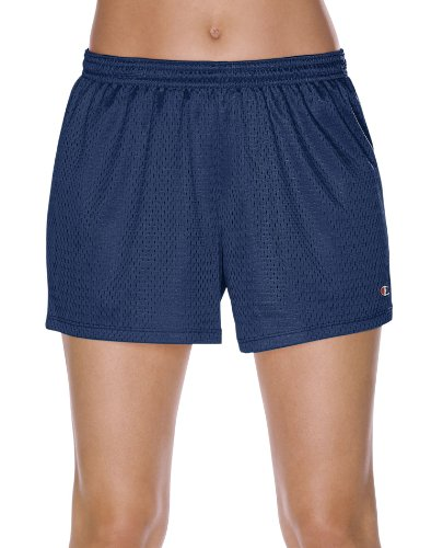Champion Women's Mesh Short, Heritage Navy, Large