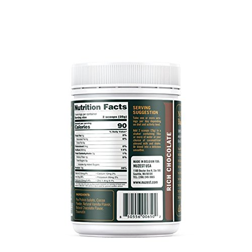 Nuzest Clean Lean Protein - Premium Pea Protein Powder, Plant-Based, Vegan, Dairy Free, Gluten Free, GMO Free, Naturally Sweetened, Rich Chocolate, 9 Servings, 7.9 oz