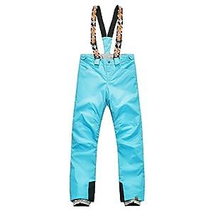 APTRO Women's/Girls Windproof Waterproof Snow Pants Removable Suspenders Insulated Ski Pants