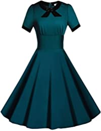 Women's Scoop Neck Vintage Casual 1950'S Retro Bridesmaid Dress