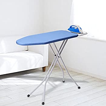 king do way 30'' L x 13''W x 33''H Opensize 4-Leg Tabletop Ironing Board with Iron Rest Simple Design Blue