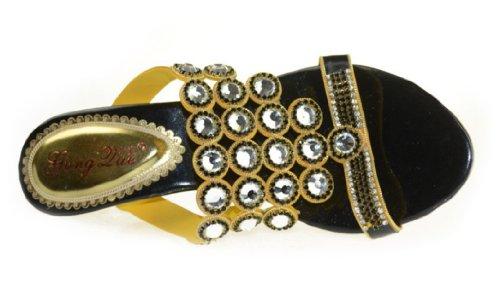 CFP - Zapatos con correa de tobillo mujer Negro - negro
