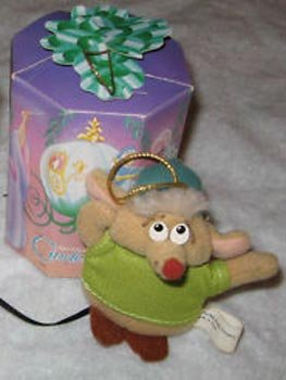 1987 McDonald's Cinderella Holiday Happy Meal Toy - Plush Gus the Mouse Christmas Ornament ()