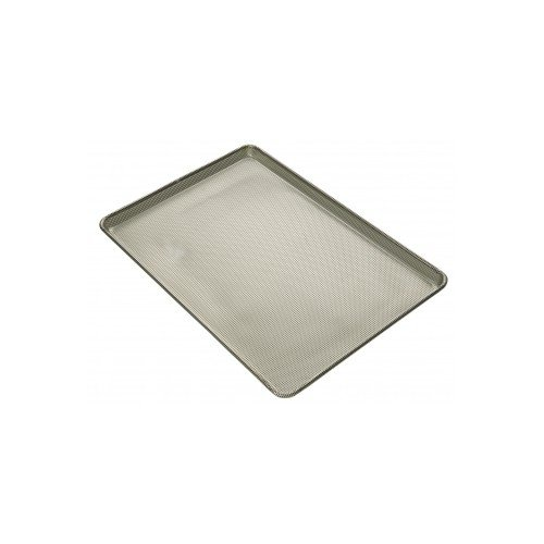 Focus Foodservice 904692 Full Size Fully Perforated Aluminum Baking Sheet, 3/32'' Square Perforations, 18'' x 26'' x 1'' by Focus Foodservice
