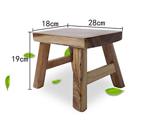 STJK$BMJW Children Wooden Bench Household Tea Table Square Stool Sitting Room Stool Shoes Stool Stool J