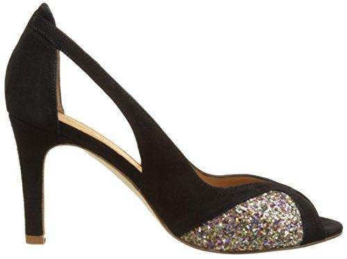 Femme glitter suede Emma Lulu Black Escarpins Disco Multicolore Bout Ouvert Go xqazwqOX