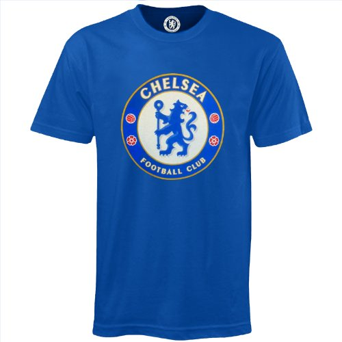 Chelsea Football Club Official Soccer Gift Mens Crest T-Shirt Royal XL ()