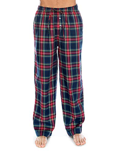 TINFL Men's Lounge Cotton Pajama Pants PM-47-Navyred M