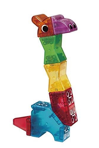 People Blocks Zoo Animals 17 pc Set - Clear Colors