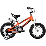 RoyalBaby Kids Bike Boys Girls 12 Inch Space No.1 Aluminum Bicycles with Training Wheels Child Bicycle Orange