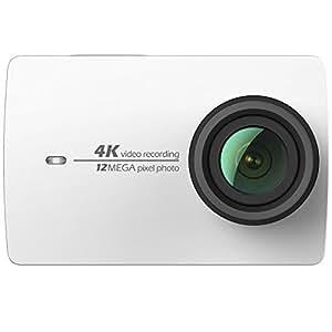 Yi 4k Cámara Deportiva, Yi Cámara de Acción 4K / 30 fps,Vídeo 12 MP, con EIS, Live Stream, Voice Control - Negro