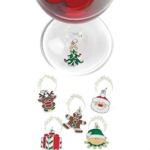christmas wine charms santa christmas tree and elf xmas glass markers holiday - Christmas Wine Charms