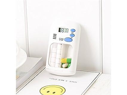 JwlqAy Bien Hecho Pastillero dispensador Pastillero con Alarma Recordatorio electrónico de medicamentos