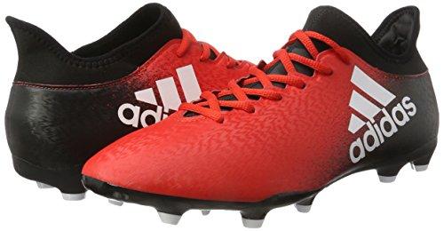 adidas X 16.3 FG, Botas de Fútbol Para Hombre Rojo (Rojo/(Rojo/Ftwbla/Negbas) 000)