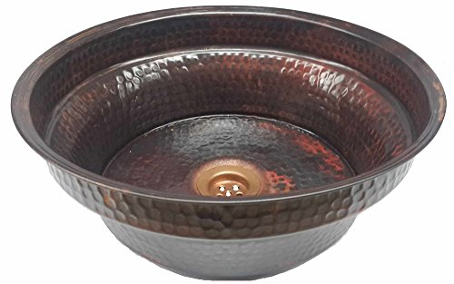Cheap  Egypt gift shops Round Textured Enamel Coat Copper Bath Bathroom Sink