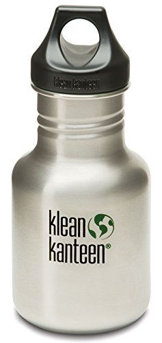 Klean Kanteen Stainless Steel Water Bottle with Poly Loop Cap (12-Ounce)