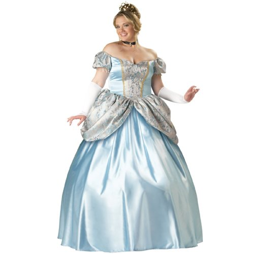 InCharacter Costumes Women's Enchanting Princess Plus Size Costume, Blue, -