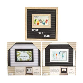 Letter Board with 4 x 6 Frame 12 x 12 with 145 Letters 3 Assorted Window Box, Case of 6