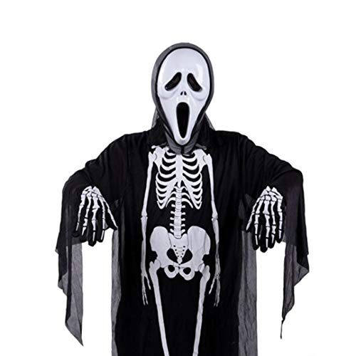 Yezijin Hallowmas Costume, Halloween Ghost Clothes (Black) -