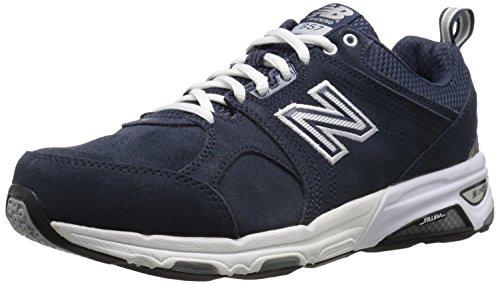 New Balance Men's MX857V1 Training Shoe-M, Navy/White, 9.5 4E US