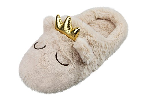 - Lady Winter Warm Novelty Crown Slippers Shoes Womens Autumn Soft Cozy House Slippers Booties Girls Fluffy Cute Clogs Mules Slipper with Plush Fleece Lined Home Bedroom Spa Hotel Indoor Footwear Shoes