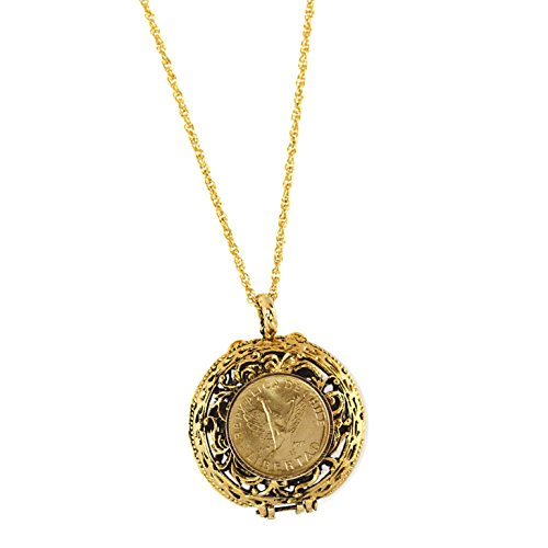 (American Coin Treasures Mustard Seed Locket Angel Coin)