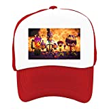 EThomasine Kids Girls Boys Mesh Cap Trucker Hats Plants Vs Zombies Adjustable Hat Red