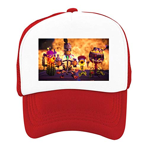 EThomasine Kids Girls Boys Mesh Cap Trucker Hats Plants Vs Zombies Adjustable Hat Red by EThomasine