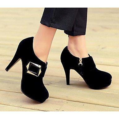 RTRY Zapatos De Mujer Cuero De Nubuck Primavera Verano Tacones Confort Casual Para Rojo Y Negro US5 / EU35 / UK3 / CN34