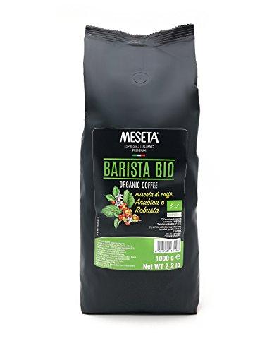 Meseta Café en Grano Orgánico Italiano, Mezcla Arábica y Robusta, 1000 g