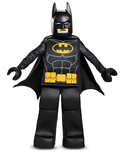 Batman LEGO Movie Prestige Costume, Black, Small (4 Man Halloween Costume)