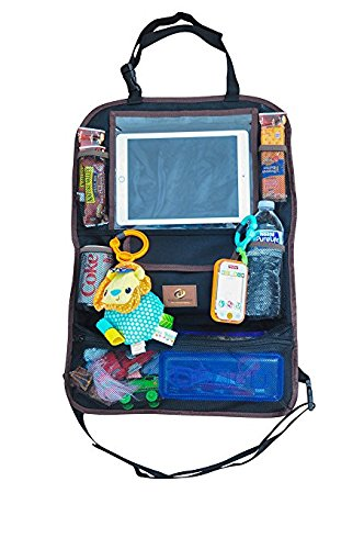 Car Back Seat Organizer Multi-Pocket Travel Storage With Touch Screen iPad Tablet Books Magazines Toys Holder