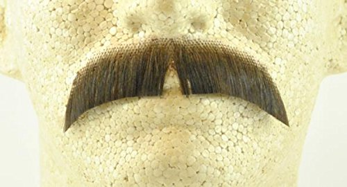 Basic Character Moustache MEDIUM BROWN - 100% Human Hair - no. 2015 - REALISTIC!