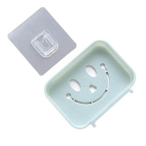 Yosooo Plastic Soap Dish Holder Rack Adhesive Bathroom Kitch