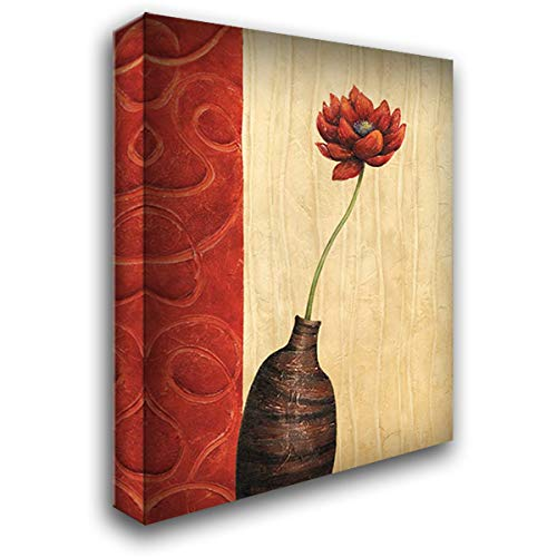 Rouge III 20x24 Gallery Wrapped Stretched Canvas Art by Corbin, Delphine