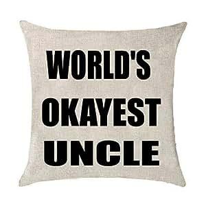 Amazon Com World S Okayest Sister Uncle Cotton Linen