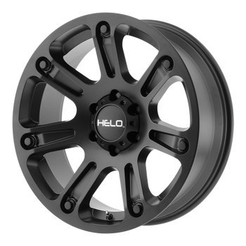 Helo HE904 17×9 Machined Black Wheel / Rim 5×5 with a 0mm Offset and a 72.60 Hub Bore. Partnumber HE90479050900