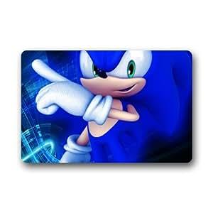 "Custom lavable Felpudo (Sonic el erizo para interiores/al aire libre Felpudo 23.6""(L) X 15,7(W)"