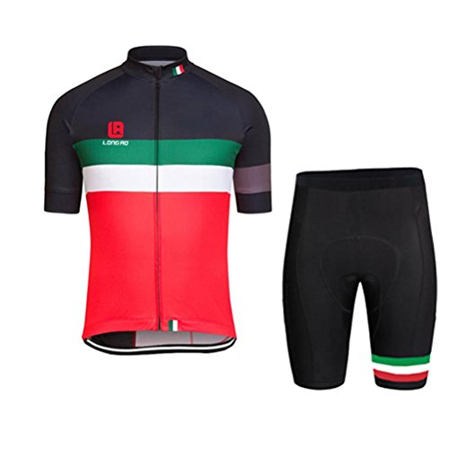 Mailiw Mens Breathable Cycling Jerseys Bicycling Outdoor Clothing Short Sleeves Shirt Bib Shorts Set With 3D Padded (Stores That Sell Mirrors)