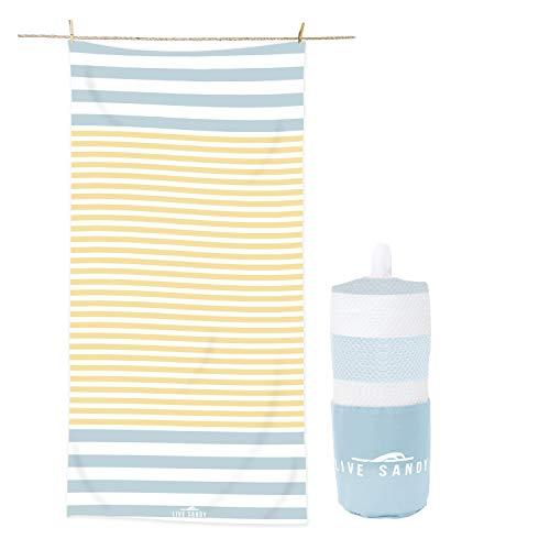 - Live Sandy Microfiber Beach Towel - Oversized Beach Towel - Quick Dry Travel Beach Towel Oversized - Microfibre Pool Towels - Beach Accessories - Sand Free Beach Blanket - Absorbent Bath Towel