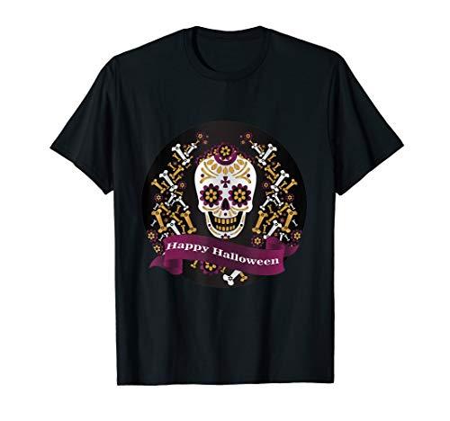 Halloween party flyer Skull t-shirt]()